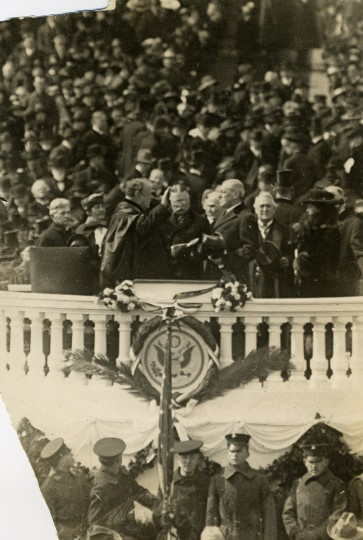March 4, 1913 — Here is Woodrow Wilson being sworn in. (Harris & Ewing/AP File Photo)