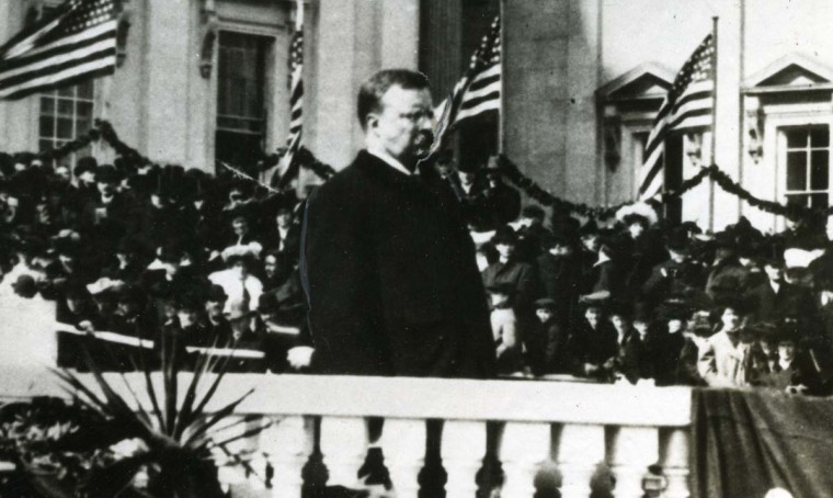 March 4, 1905 — Theodore Roosevelt, a distant relative of Franklin D. He is shown giving his Inaugural address in 1905. He was the youngest man ever to become President, being only 42 when he entered the office in 1901, after the assassination of William McKinley. (AP File Photo)