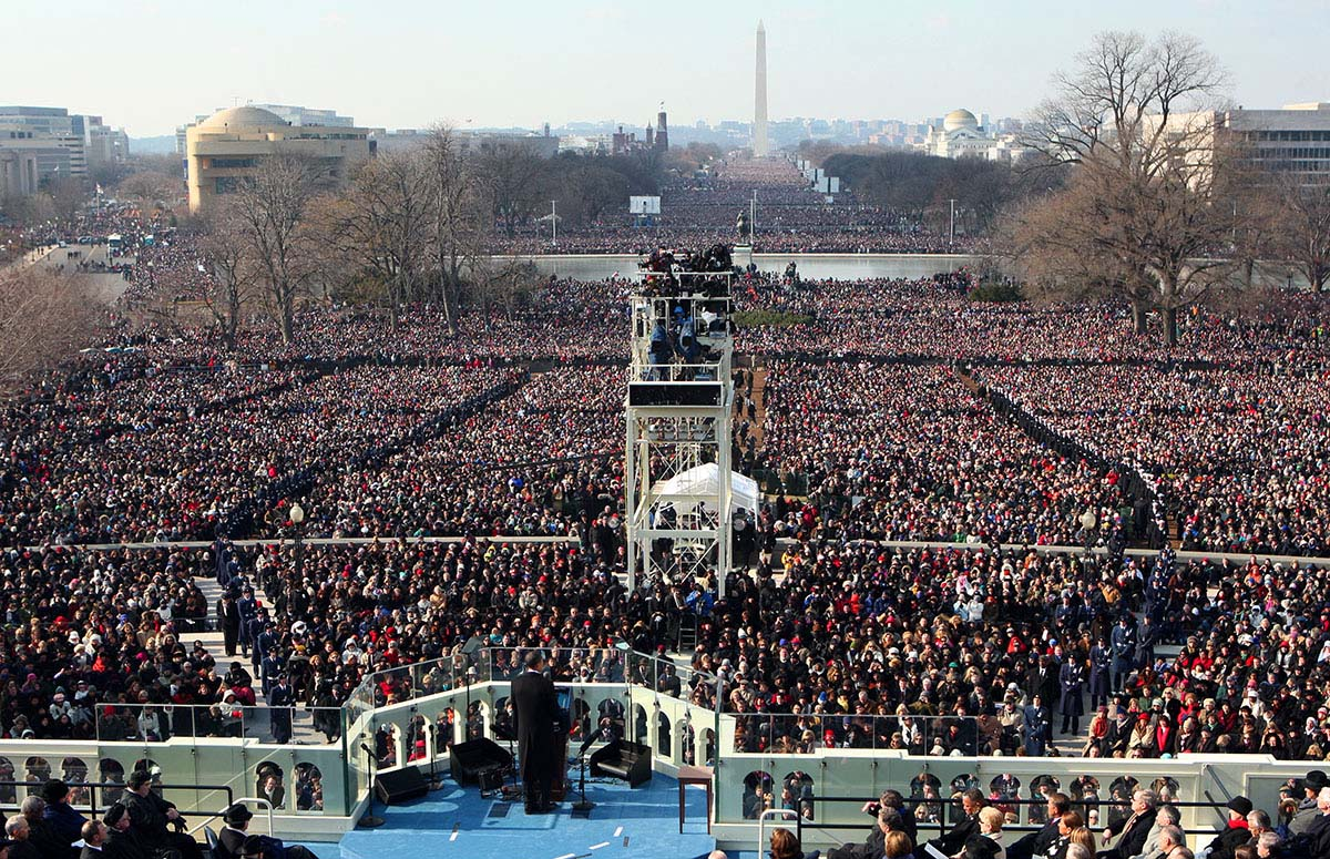 Presidential inaugurations of yesteryear for First president to be inaugurated on january 20