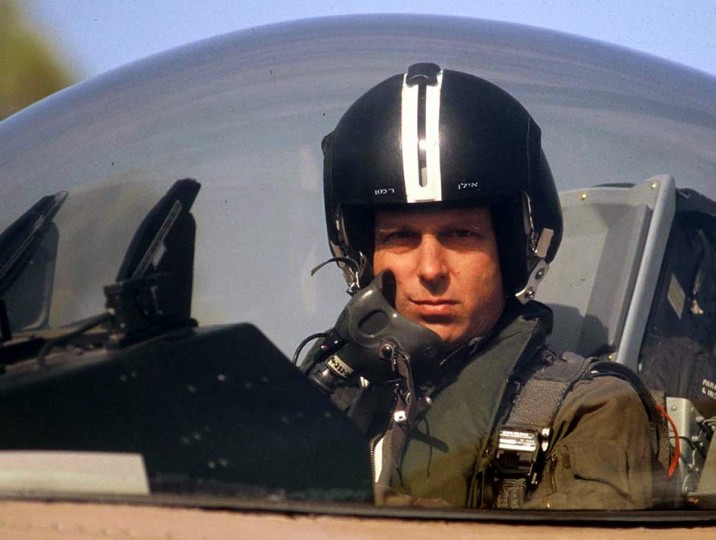 Colonel Ilan Ramon, the first Israeli astronaut, seen aboard an F-16 in this undated file photo, died on Saturday in the space shuttle Columbia disaster among six other astronauts. Ramon, at 26 years old, was the youngest pilot to take part in the June 7, 1981 Israeli air raid on Iraq's Osirak nuclear reactor's core. Israelis mourned on Sunday the death of their country's first astronaut with a weary sense of familiarity with dashed dreams. The spaceshuttle Columbia broke up in the skies 200,000 feet over Texas. (Israeli Air force magazine/via Reuters)