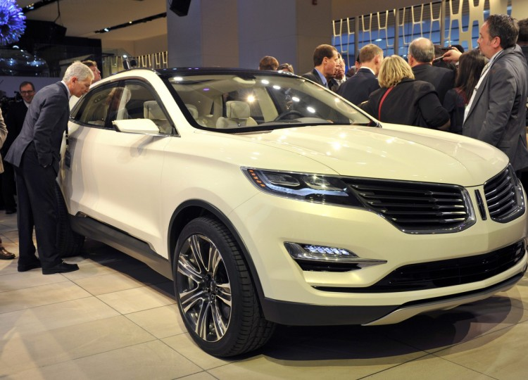 The Lincoln MKC Concept crossover vehicle is presented at the North American International Auto Show in Detroit, Michigan. (James Fassinger/Reuters photo)