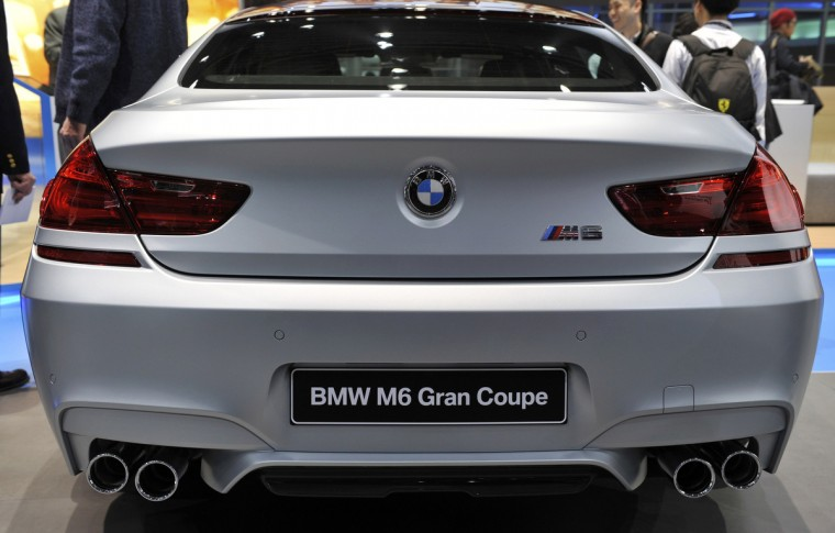 Rear view of the BMW 6 Series Gran Coupe as it is presented at the North American International Auto Show in Detroit. (James Fassinger/Reuters photo)