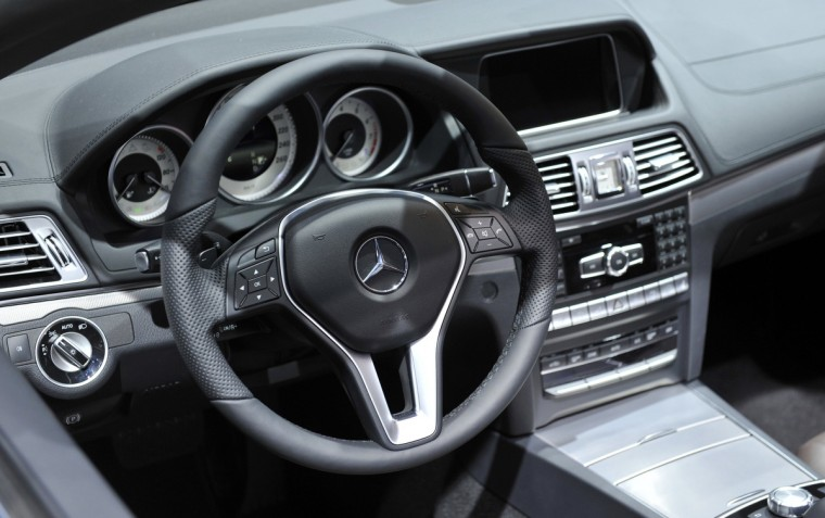 View of the interior of the Mercedes Benz E Class Cabriolet as it is presented at the North American International Auto Show in Detroit, Michigan. (James Fassinger/Reuters photo)