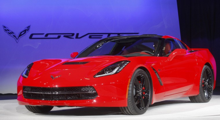 The 2014 Chevrolet Corvette Stingray is introduced at the North American International Auto Show in Detroit, Michigan. (Rebecca Cook/Reuters photo)