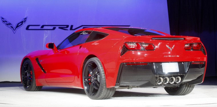 Rear view of the 2014 Chevrolet Corvette Stingray as it is introduced at the North American International Auto Show in Detroit, Michigan. (Rebecca Cook/Reuters photo)