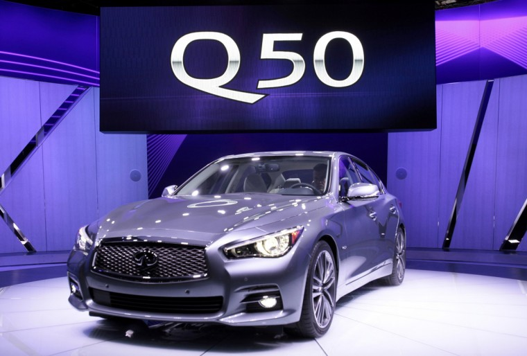 The Infiniti Q50 sport sedan is introduced at the North American International Auto Show in Detroit, Michigan. (Rebecca Cook/Reuters photo)