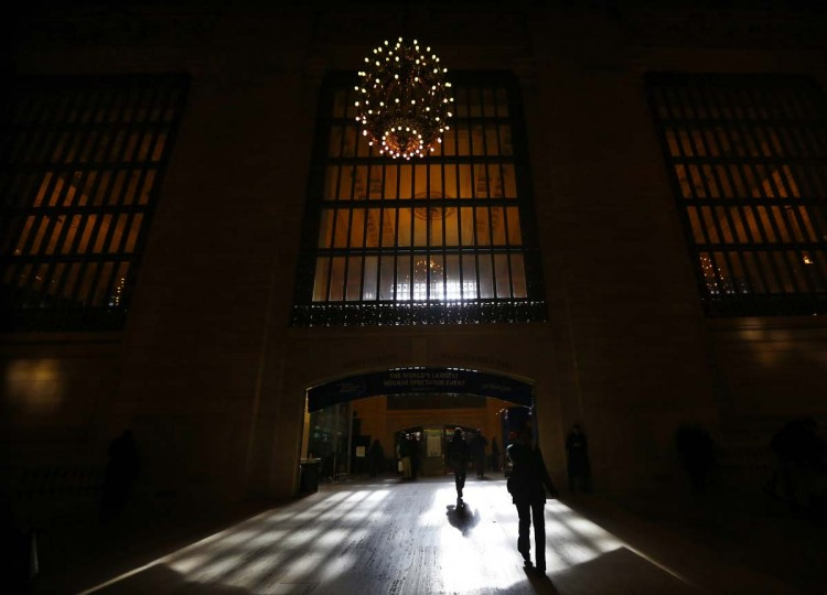 Light shines through a window as commuters enter the main concourse of Grand Central Terminal in New York, January 25, 2013. (Brendan McDermid/Reuters)