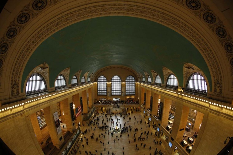 Commuters move through the grand hall of Grand Central Terminal in New York, January 25, 2013. Since its grand beginnings in 1913, when it was dubbed the greatest railway terminal in the world with an $80 million price tag, Grand Central has been an integral part of New York. (Brendan McDermid/Reuters)