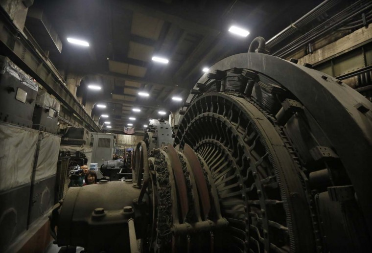 Giant power transformers are seen seven stories below the main concourse in the power plant of Grand Central Terminal in New York, January 29, 2013. (Brendan McDermid/Reuters)