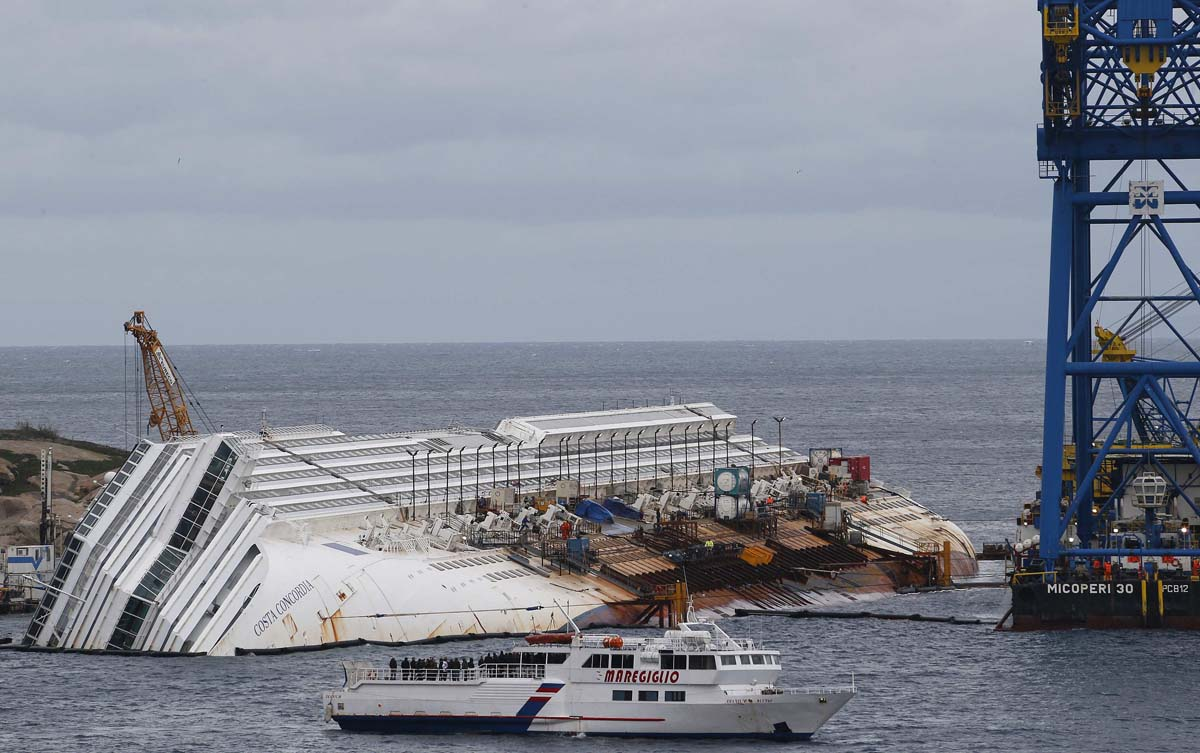 Survivors of the Costa Concordia disaster mark first anniversary of capsized cruise ship