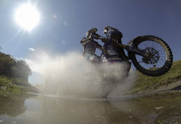 France's Vincent Guindani rides his Yamaha during the 9th stage of the Dakar Rally 2013 from San Miguel de Tucuman to Cordoba, January 14, 2013. (Jacky Naegelen/Reuters)