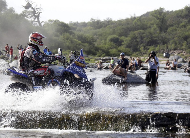 Argentina's Marcos Patronelli rides his Yamaha quad during the 10th stage of the Dakar Rally 2013 from Cordoba to to La Rioja, January 15, 2013. (Jacky Naegelen/Reuters)