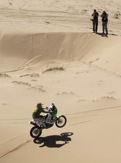 Norway's Pal Ullevalseter rides his KTM during the 13th stage of the Dakar Rally 2013 from Copiapo to La Serena, January 18, 2013. (Jacky Naegelen/Reuters)
