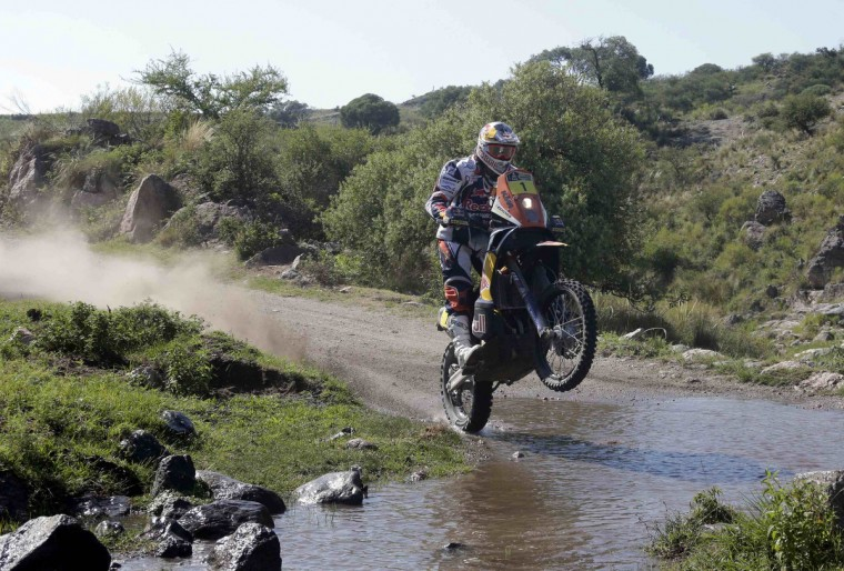 France's Cyril Despres rides his KTM during the 9th stage of the Dakar Rally 2013 from San Miguel de Tucuman to Cordoba, January 14, 2013. (Jacky Naegelen/Reuters)