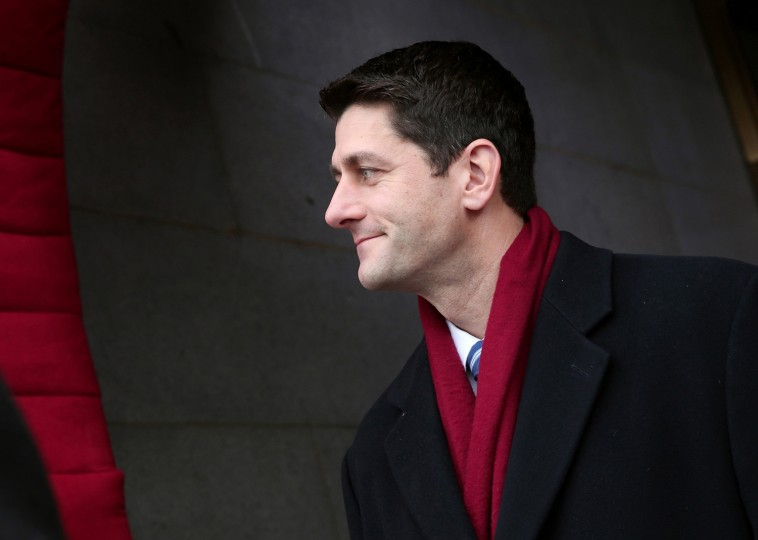 U.S. Rep. Paul Ryan (R-WI) arrives for the presidential inauguration. (REUTERS/Win McNamee)