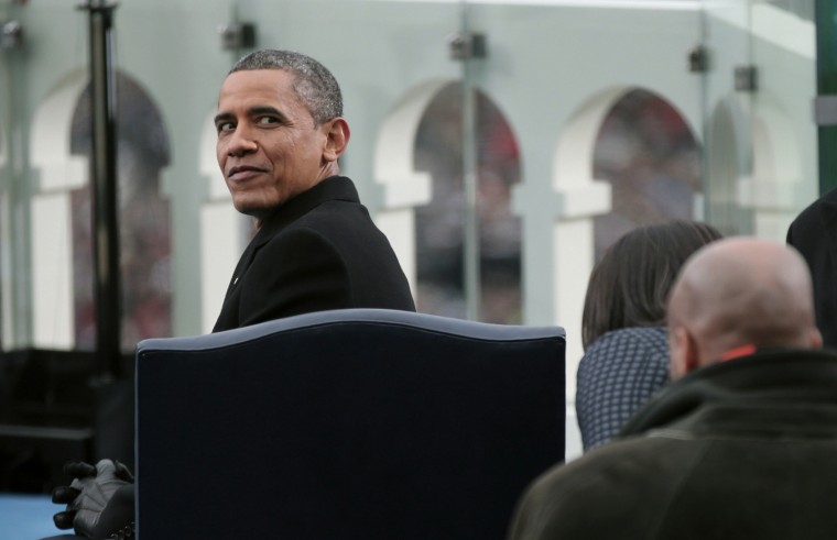 U.S. President Barack Obama is seen during his second presidential inauguration. (REUTERS/Win McNamee)