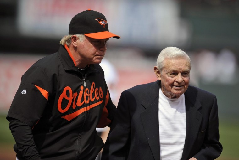 April 4, 2011: Many have remarked on the physical similarities between current manager Buck Showalter and Earl Weaver. (Gene Sweeney Jr./Baltimore Sun photo)