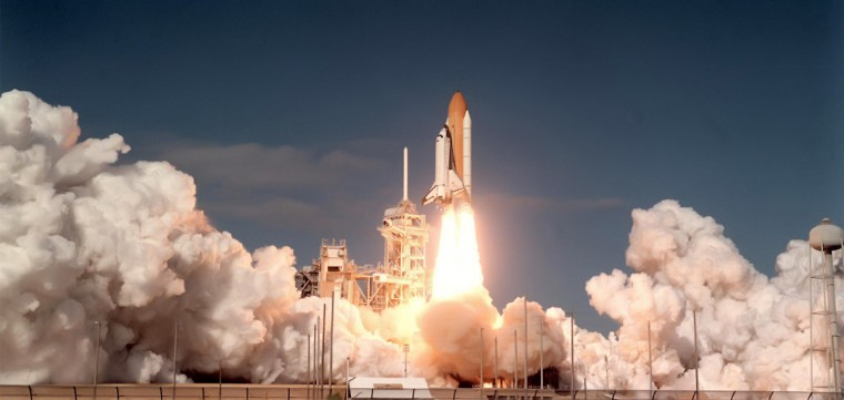 In this January 16, 2003 photograph, space shuttle Columbia and its 7-member crew including Ilan Ramon, the first Israeli astronaut, lifts off from its Kennedy Space Center launchpad on a 16-day science mission. February 1, 2013 marks the 10-year anniversary when the aircraft broke apart after entering the Earth's atmosphere. (Red Huber/Orlando Sentinel/MCT)