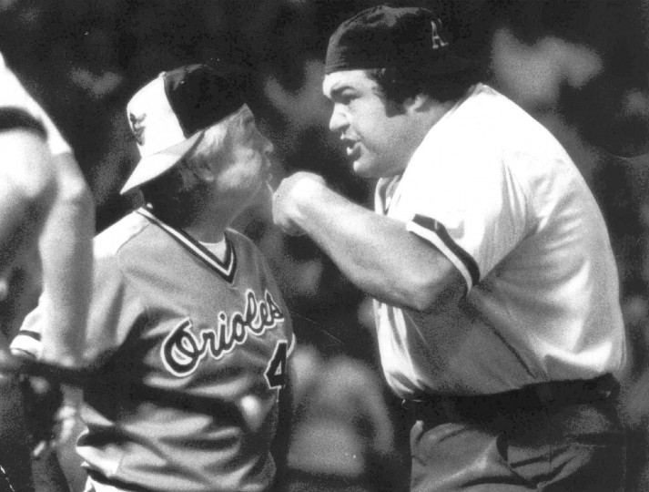 August 1982: Earl Weaver had a difference of opinion with home plate umpire Ken Kaiser in the third inning. Weaver was irate at ball and strike calls by the umpire, who took exception to the manager's questioning.