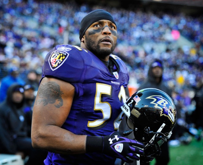 "Ray Lewis at the Ravens' Super Bowl XLVII victory celebration: ""There is nothing in the world, there is no place on this earth, that is better than Baltimore. This city, this city, we believed in each other from Day One, from 1996 to now. ... I love you, Baltimore. Baltimore! Forever my city. I love you."" (Lloyd Fox/Baltimore Sun Photo of Lewis during 2011 season)"