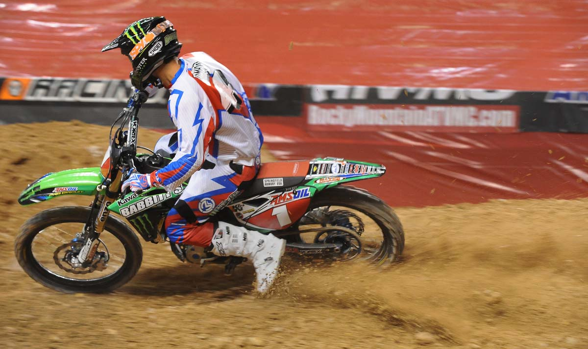 Arenacross motorcycle racing delivers big excitement in a little package