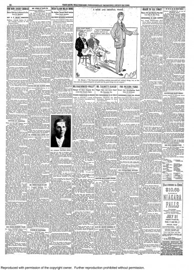 Full page of The Sun; Jul 29, 1908, pg. 12