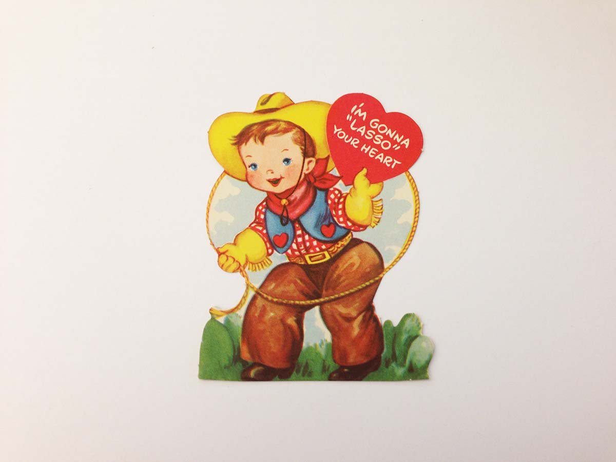 I'm gonna lasso your heart: Retro Valentine's Day cards