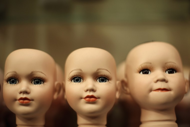 Dolls heads are seen on display at Sydney's Original Doll Hospital in Bexley in Sydney, Australia. Established in 1913 by Harold Chapman Jr., the Doll hospital is now run by Geoff Chapman, the third generation of Chapmans to run the business and will celebrate 100 years of repairing all types of dolls, teddy bears, rocking horses, umbrellas, prams and various other items. (Mark Kolbe/Getty Images)