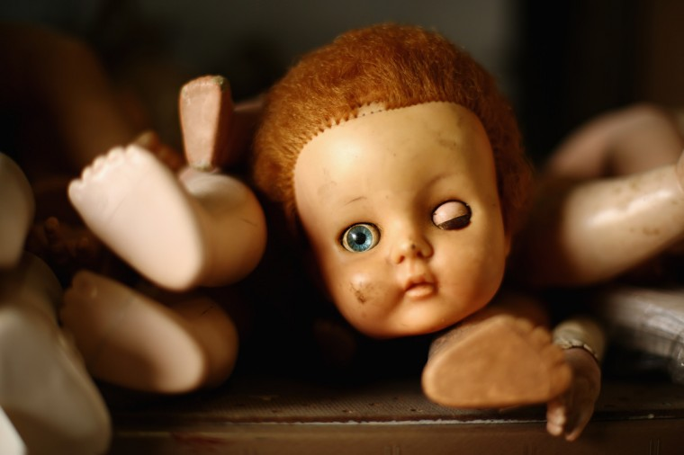 Spare doll body parts are seen at Sydney's Original Doll Hospital in Bexley in Sydney, Australia. (Mark Kolbe/Getty Images)