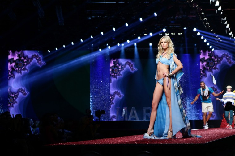 Model Karolina Kurkova walks the runway at the Yamamay show during Milan Fashion Week Fall/Winter 2013/14 at the Alcatraz in Milan, Italy. (Vittorio Zunino Celotto/Getty Images)