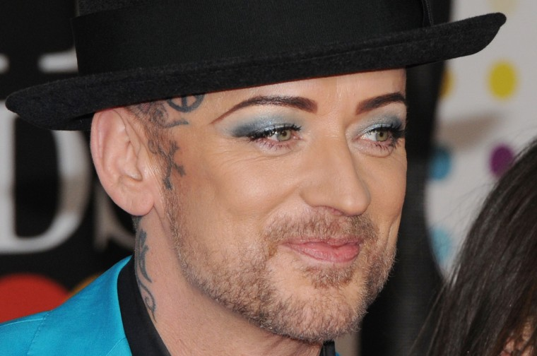 Boy George attends the Brit Awards 2013 at the 02 Arena on February 20, 2013 in London, England. (Eamonn McCormack/Getty Images)