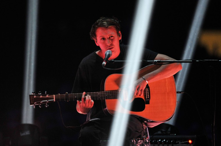 Ben Howard performs on stage during the Brit Awards 2013 at the 02 Arena on February 20, 2013 in London, England. (Matt Kent/Getty Images)