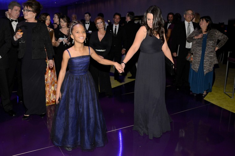 Actress Quvenzhane Wallis (L) attends the Oscars Governors Ball at Hollywood & Highland Center on February 24, 2013 in Hollywood, California. (Kevork Djansezian/Getty Images)