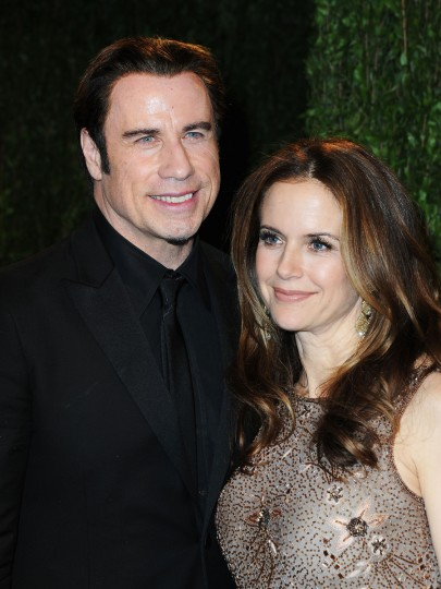 Actors John Travolta (L) and Kelly Preston arrive at the 2013 Vanity Fair Oscar Party hosted by Graydon Carter at Sunset Tower on February 24, 2013 in West Hollywood, California. (Pascal Le Segretain/Getty Images)
