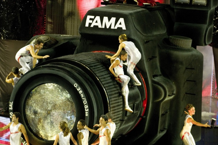 Revelers of Salgueiro samba school perform during the first night of Carnival parade at the Sambadrome in Rio de Janeiro, Brazil on February 10, 2013. (Antonio Scorza/Getty Images)