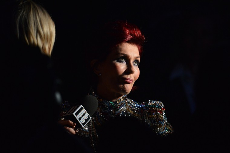 British TV presenter Sharon Osbourne attends the BRIT Awards 2013 in London. (Ben Stansall/Getty Images)