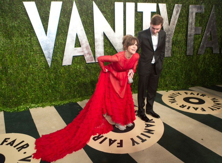 Sally Fields (L) arrives for the 2013 Vanity Fair Oscar Party on February 24, 2013 in Hollywood, California. (Adrian Sanchez-Gonzalez/Getty Images)