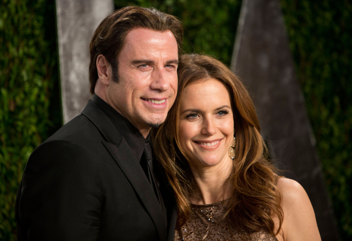 John Travolta and his wife