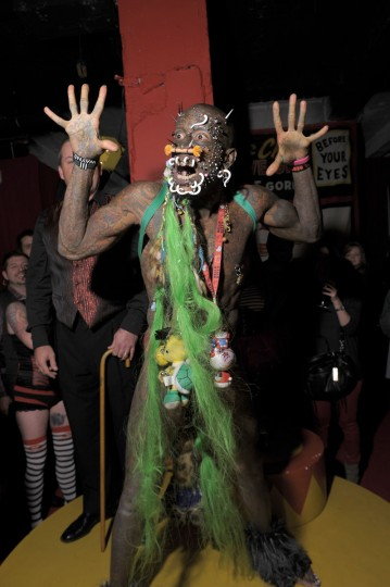 Marcus 'The Creature' attends Immortal Love Pop-up Experience - Freakshow & Immortalized on February 7, 2013 in New York City. (Michael Loccisano/Getty Images for AMC)