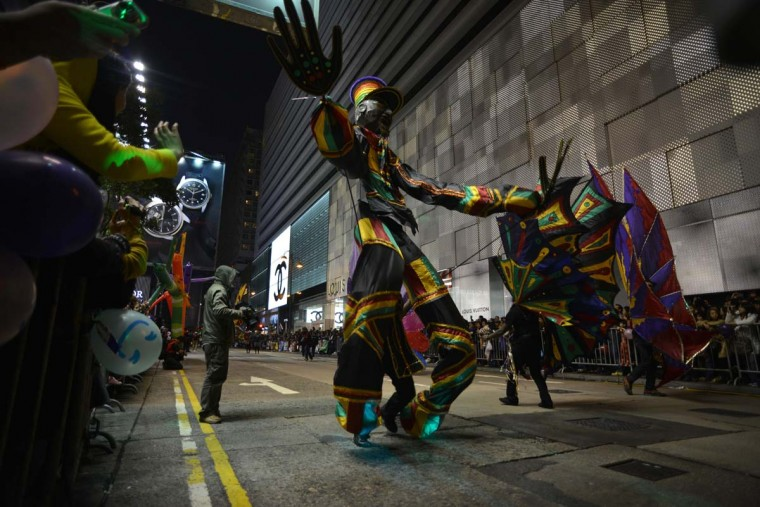 Participants take part in the Chinese lunar new year parade in the streets of Hong Kong on February 10, 2013. Chinese lunar new year, celebrated by Chinese communities the world over, falls on February 10 with the beginning of the new moon. (Antony Dickson/AFP/Getty Images)