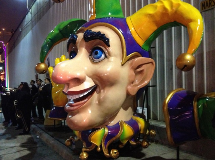 A float head for a Mardi Gras parade float, displayed at Mardi Gras World in New Orleans. (Gene Sweeney Jr./Baltimore Sun)
