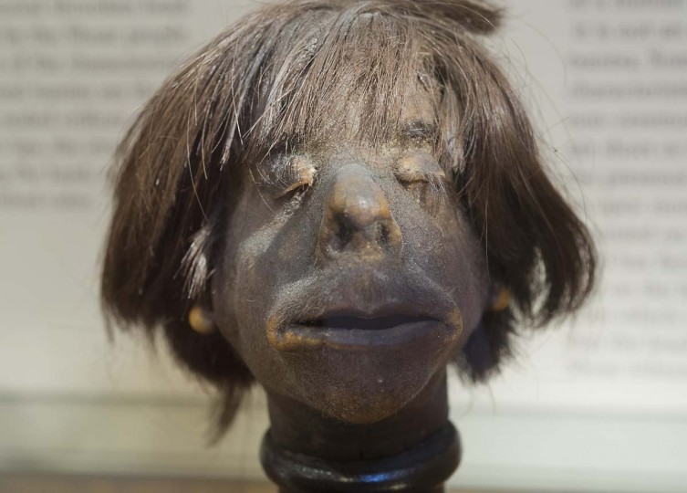 "This authentic human head was created in early the 1930s and is on display at the Mutter Museum of The College of Physicians of Philadelphia, Pennsylvania. ""We donít sugarcoat or glorify anything,"" says curator Anna Dhody. ""We ask visitors to come with open minds and focus on the subjects that appeal to them."" (Harry Fisher/Allentown Morning Call/MCT)"