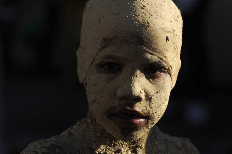 A reveller takes part in the annual Carnival parade in La Vega February 3, 2013. (Ricardo Rojas/Reuters)