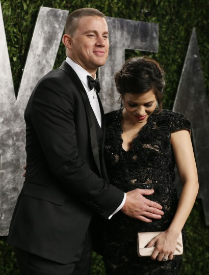 Channing Tatum and pregnant wife Jenna attend the 2013