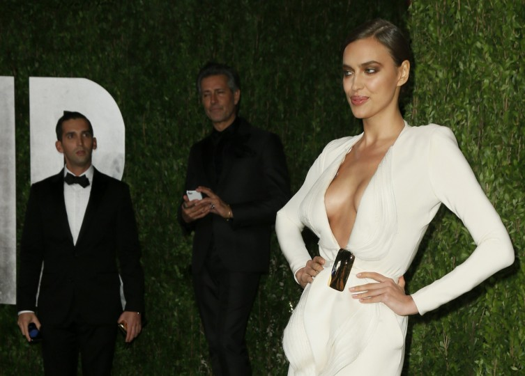 Irina Shayk Russian model attends the 2013 Vanity Fair Oscars Party in West Hollywood, California February 25, 2013. (Danny Moloshok /Reuters photo)