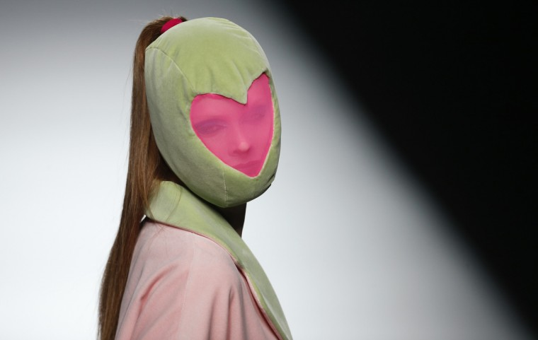 A model presents a creation from Agatha Ruiz de la Prada's Fall/Winter 2013 collection during the Mercedes-Benz Fashion Week in Madrid. (Juan Medina/Reuters)
