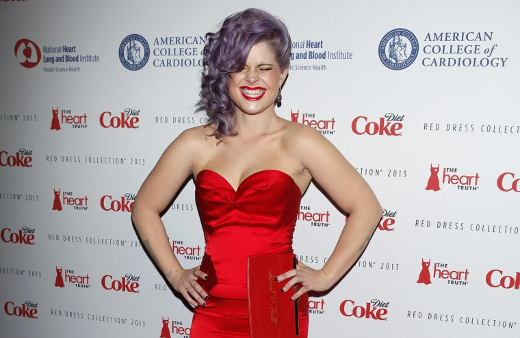 TV personality Kelly Osbourne arrives before the The Heart Truth's Red Dress Collection fashion show in New York. (Carlo Allegri/Reuters)