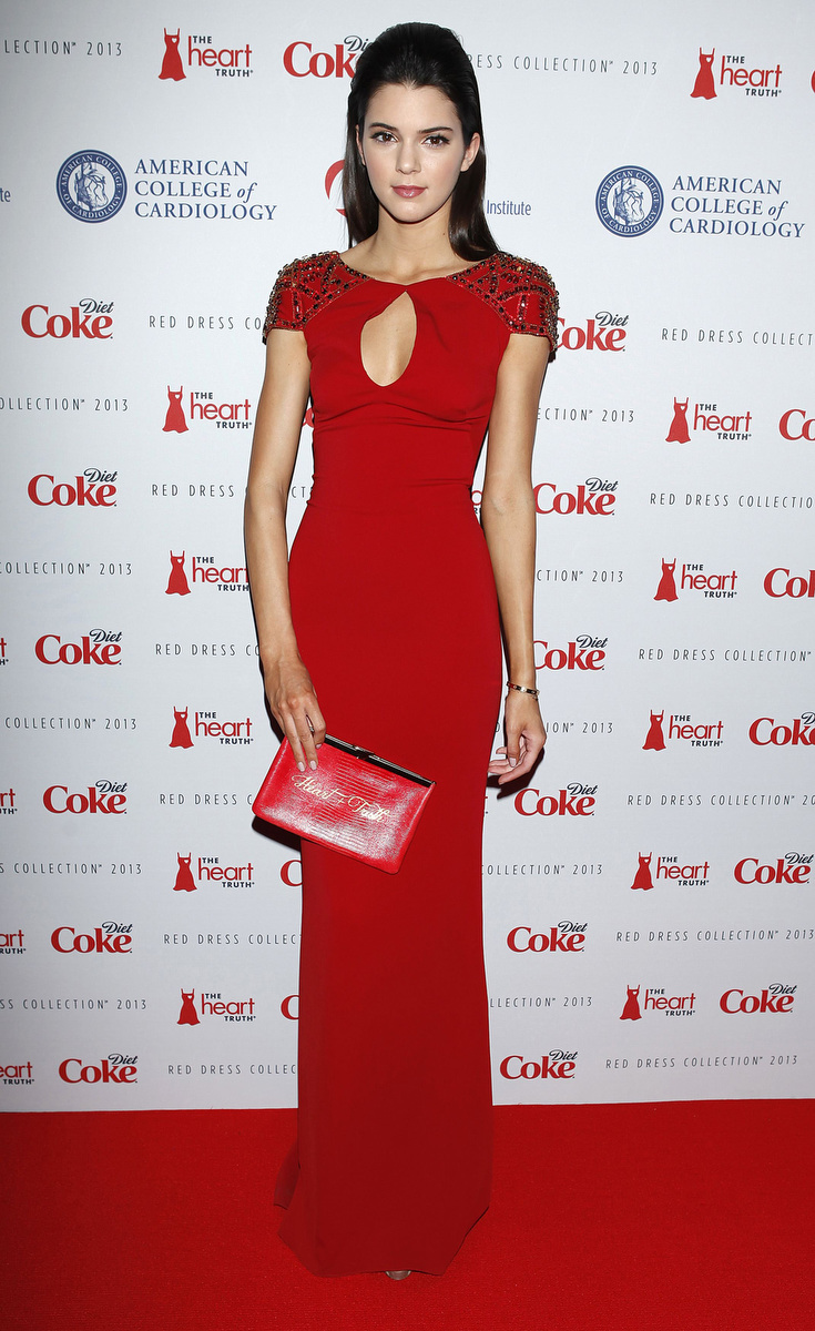 Celebrity Red Dress Fashion Show In Nyc