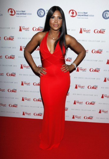 Singer Toni Braxton arrives before the The Heart Truth's Red Dress Collection fashion show in New York. (Carlo Allegri/Reuters)