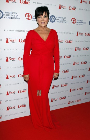 TV personality Kris Jenner arrives before the The Heart Truth's Red Dress Collection fashion show in New York. (Carlo Allegri/Reuters)